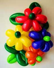 Clare's Circus Calne Chippenham Balloon Modelling Flowers