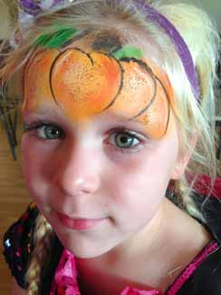 Clare's Circus Calne Chippenham Pumpkin Face Painting Kids
