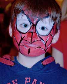 Clare's Circus Calne Chippenham Spiderman Face Painting Kids