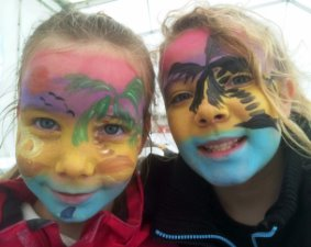 Clare's Circus Calne Chippenham Tropical Face Painting Kids