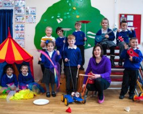 Clare's Circus Calne Chippenham Circus Workshops for Schools